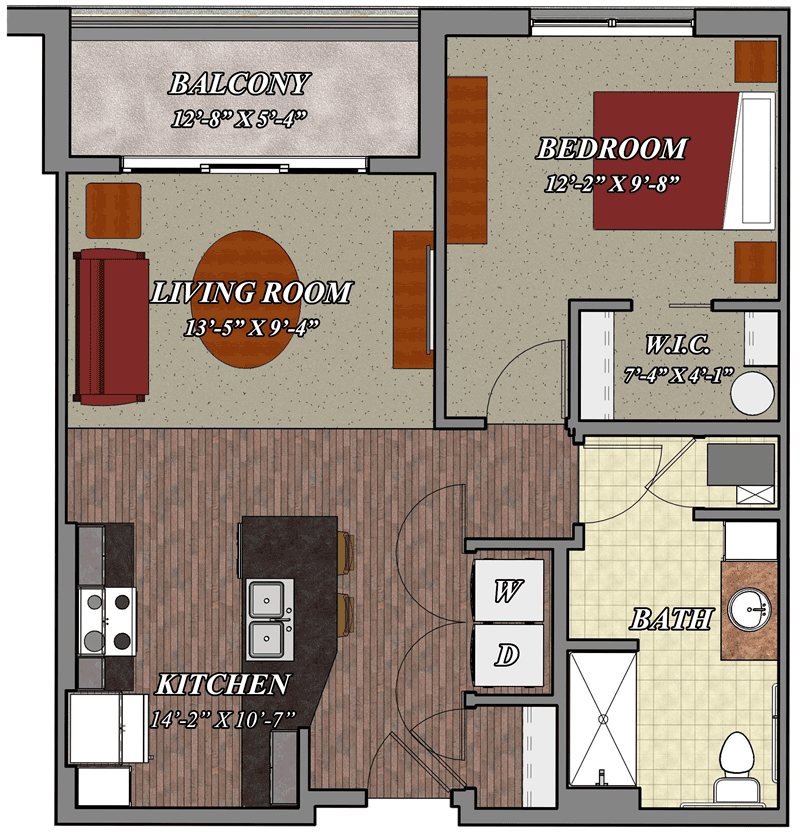 B1A_One_Bedroom_One_Bathroom_Apartment_Floor_Plan-800